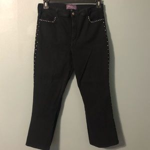 Not Your Daughters Jeans Black Rhinestone Jeans